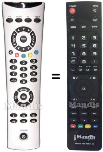 brandt telecomandi  Telecomando equivalente Brandt 10720