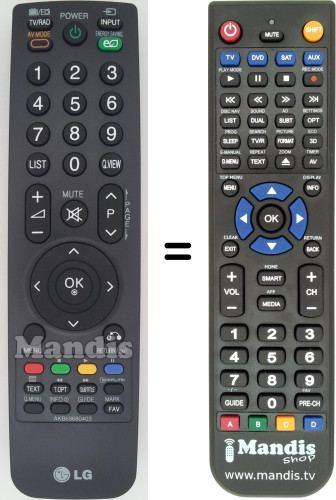 Ersatz Fernbedienung für LG TV 32LH2000 32LH3000 32LF2500 37LF2500 42LF2500