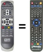 Replacement remote control OPENTECH DIGITAL B HD