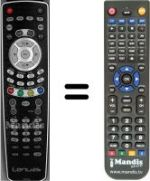 Replacement remote control LENUSS HDTV 22 ST 01