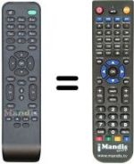 Replacement remote control NUMERICABLE DC152 [PHILIPS]