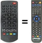 Replacement remote control MG ITEX DVBT-B 204