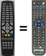 Replacement remote control I-SET 1600 HD-CI