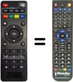 Replacement remote control TVBOX M 8 S