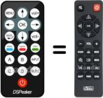 Replacement remote control DSPEAKER HVS50414