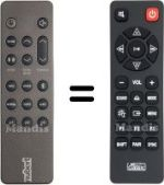 Replacement remote control NUBERT HVS50267
