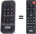 Replacement remote control NUBERT HVS50251